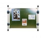 Panneau avec ou sans bandeau titre - Dimension surface d'affichage (H x L) : 1225 x 870 mm