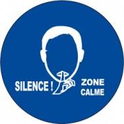 Panneau Avertisseur sound sign - Demander à une population de faire silence