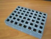 Panneau caillebotis gris - Maille sécurité 19 x 19 mm intérieur