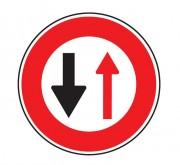 Panneau cédez passage circulation inverse B15 - Dimensions : de 450 à 1250 mm - Norme CE et NF - Type B
