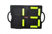 Panneau changement joueur - Panneau de fond noir en PVC - Dimensions : 58 x 30 cm - Numéro de 1 à 99