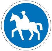 Panneau chemin obligatoire pour cavalier B22c