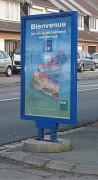 Panneau d'affichage à ressorts - Dimensions de l'affiche : de 120 x 80 à 176 x 120 cm