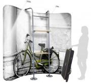 Panneau d'affichage avec étagères - Structure en aluminium
