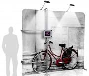 Panneau d'affichage avec support tablette - Dimensions : 2420 x 2225 mm