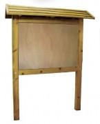 Panneau d'affichage bois avec toiture - Hauteur totale : 2800 mm