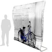 Panneau d'affichage courbé - Structure en aluminium / L 2240 x H 2200 mm