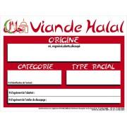 Panneau d'affichage de boucherie viande halal - Vendu à l'unité - L 20 x l 15 cm