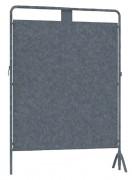 Panneau d'affichage électoral en acier - Surface d'affichage (mm) : 1700 x 1500 ou 1700 x 1000