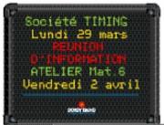 Panneau d'affichage électronique multiligne - 4,6 ou 8 lignes