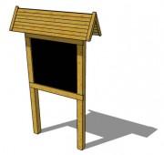 Panneau d'affichage en pin traité - Dimensions sur mesure