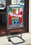 Panneau d'affichage extérieur sur roulettes - Dimensions de l'affiche (L x H) cm : 60 x 82