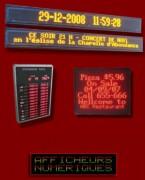 Panneau d'affichage lumineux à messages variables - A messages variables