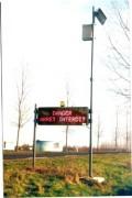 Panneau d'affichage lumineux automatique - Danger