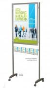 Panneau d'affichage mobile - Fabriqué en Europe - Dimensions : L 860 x H 1950 x P 75 mm