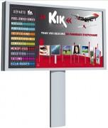 Panneau d'affichage monopied 8 m² - Livré en kit