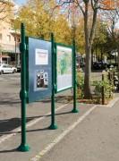 Panneau d'affichage municipal double face - Affichage recto-verso