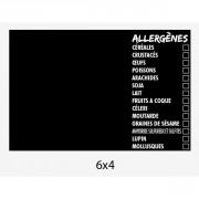 Panneau d'affichage présence allergènes