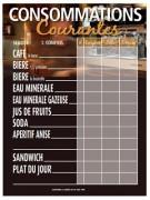 Panneau d'affichage prix alcool - Dimensions (cm) : 52 x 40 - 50.3 x 35
