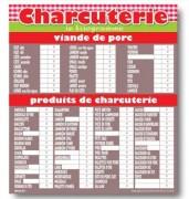 Panneau d'affichage prix charcuterie - Vendu à l'unité