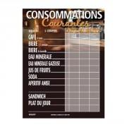 Panneau d'affichage prix de consommation