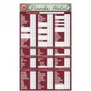 Panneau d'affichage prix viande halal