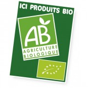 Panneau d'affichage produits bio