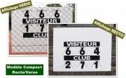 Panneau d'affichage score tennis manuel recto verso - Modèle compact : 78.5 x 60 cm