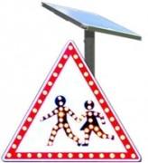 Panneau d'affichage solaire pour signalisation routière - Poids : 3,5 kg - 60 clignotements par minute