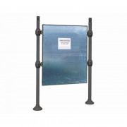 Panneau d'affichage sur poteaux - Surface d'affichage  (mm) : de 870 x 1225 - 1225 x 870 - 1225 x 1670 -1670 x 1225