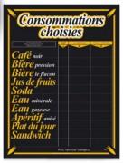 Panneau d'affichage tarifs consommations - Dimensions (cm) : 30 x 40