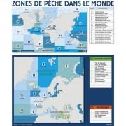 Panneau d'affichage zone et sous zones de pêche
