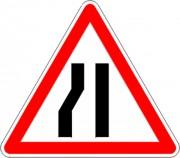 Panneau d'annonce de chaussée rétrécie par la gauche A3b