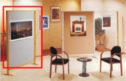 Panneau d'exposition - Dimensions (H x l) cm : 172 x 122
