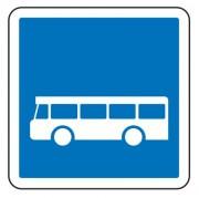 Panneau d'indication arrêt d'autobus C6 - Dimensions (mm) : de 350 à 1050 - Norme CE et NF - Type C