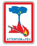 Panneau d'indication attention au feu C3 - Dimension (mm) : de 600 x 800 à 1600 x 2400