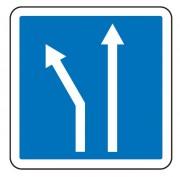 Panneau d'indication d'affectation de voies C24b - Dimensions (mm) : de 350 à 1050 - Norme CE et NF - Type C