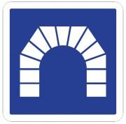 Panneau d'indication d'un tunnel C111 - Dimensions (mm) : de 350 à 1050 - Norme CE et NF - Type C