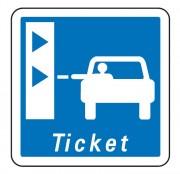 Panneau d'indication d'une borne de retrait de tickets de péage C62 - Dimensions (mm) : de 350 à 1050 - Norme CE et NF - Type C