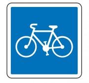 Panneau d'indication d'une piste ou bande cyclable C113 - Dimensions (mm) : de 350 à 1050 - Norme CE et NF - Type C