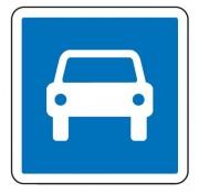 Panneau d'indication d'une route à accès réglementé C107 - Dimensions (mm) : de 900 à 1200 - Norme CE et NF - Type C