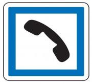 Panneau d'indication de cabinet téléphonique CE2b - Dimensions (mm) : de 350 à 1050 - Norme CE et NF - Type CE