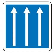 Panneau d'indication de conditions particulières de circulation C24a - Dimensions (mm) : de 350 à 1050 - Norme CE et NF - Type C