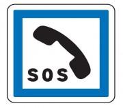 Panneau d'indication de poste d'appel d'urgence CE2a - Dimensions (mm) : de 350 à 1050 - Norme CE et NF - Type CE