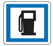 Panneau d'indication des postes de distribution de carburant CE15a - Dimensions (mm) : de 350 à 1050 - Norme CE et NF - Type CE