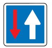 Panneau indication en acier priorité par rapport à la circulation venant en sens inverse CK - Dimensions : 700 - 900 mm - Norme NF - Type CK