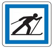 Panneau d'indication Ski de fond CE6b - Dimensions (mm) : de 350 à 1050 - Norme CE et NF - Type CE
