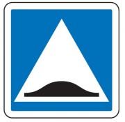 Panneau d'indication surélévation chaussée C27 - Dimensions (mm) : de 350 à 1050 - Norme CE et NF - Type C