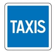 Panneau d'indication Taxis C5 - Dimensions (mm) : de 350 à 1050 - Norme CE et NF - Type C