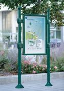 Panneau d'information extérieur H 1200 x 800 mm - Sans bandeau - titre
